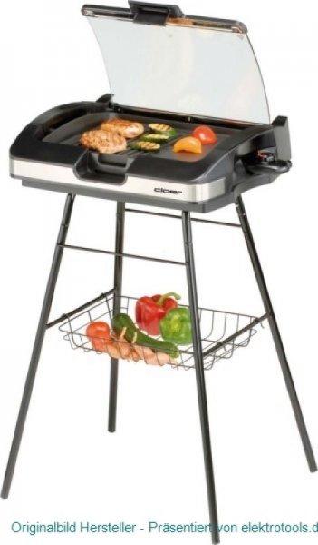 [Online elektrotools.de] Cloer Barbecue Grill in schwarz mit Standfuss und Deckel für 71,40 €