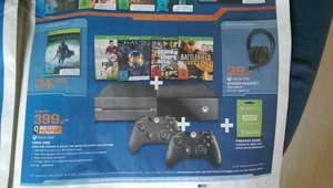 Xbox One+ 4Spiele+2 Controller+3 Monate Live 399€ @ Saturn Kassel