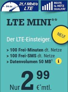 [mcsim] o2 100Min / 100SMS / (50MB) für 2,99€ mtl. kündbar, eher für nicht Smartphone Besitzer
