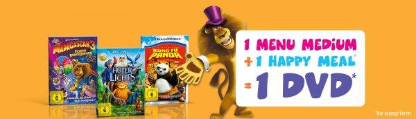 Mcdonalds Schweiz , Menü und Happymeal kaufen + Kinder DVD Gratis