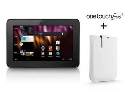 Alcatel OneTouch Evo 7 T70 Tablet Schwarz inkl. Leder-Tasche in Weiß für 39,90€ @meinpaket