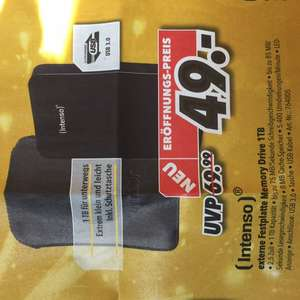 "[lokal Medimax Offenburg] Intenso Memory Drive 1TB / 2,5"" / USB 3.0"