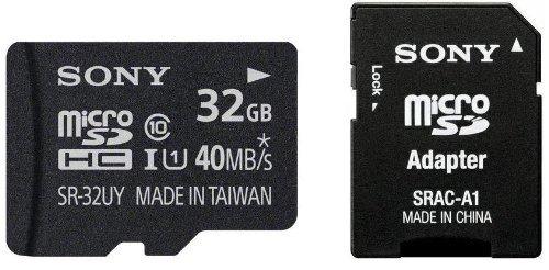 Sony SR32UYA Micro SDHC 32GB Class 10 Speicherkarte microSDHC für 11€ [Amazon Prime]