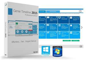 Backup-Software 'Genie Timeline Professional 2015' gratis 1-Jahres-Lizenz Vollversion (ähnlich Time Machine)