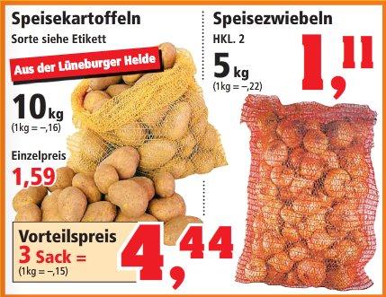 [Thomas Phillips] 30kg (3 Sack) Kartoffeln 4,44 | 5kg Zwiebeln 1,11