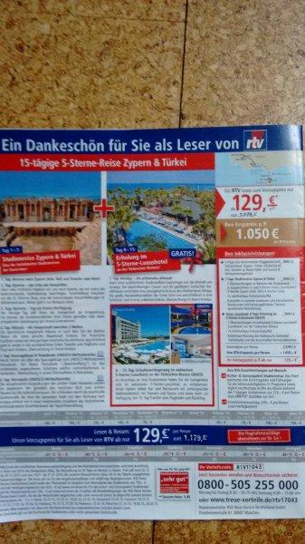 RTV: 7 Tage Zypern Studienreise + 7 Tage Türkei ab 129€