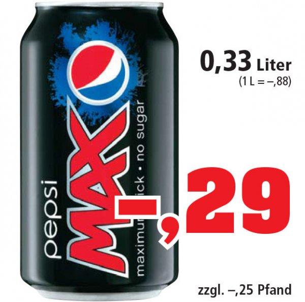 Pepsi MAX in der DOSE 0,33 nur 29 Cent [Philipps]