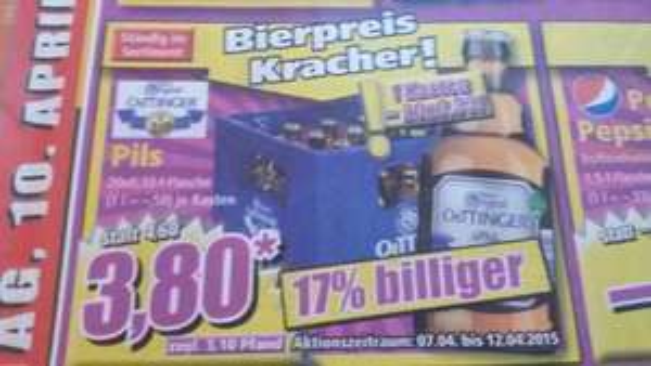 Oettinger Pils 20x0.33 - 3,80€ *offline*