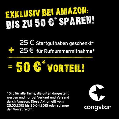 congstar Starterpaket bei amazon für 2,36 € mit 25 € Startguthaben