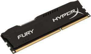 [Redcoon / Klarna] Kingston HyperX FURY schwarz DIMM 8GB, DDR3-1600, CL10 (HX316C10FB/8)