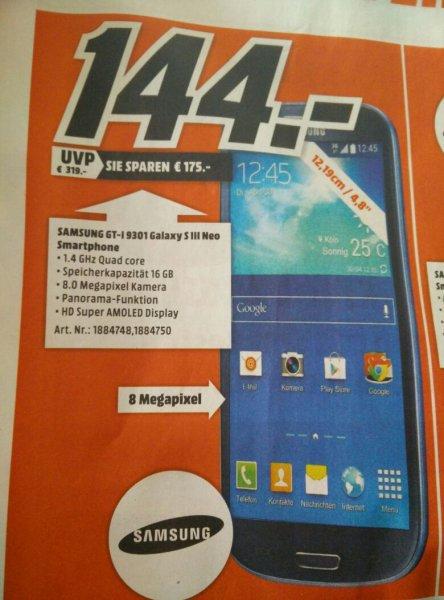 [lokal] Samsung Galaxy S3 Neo im MM Ludwigshafen für 144,00