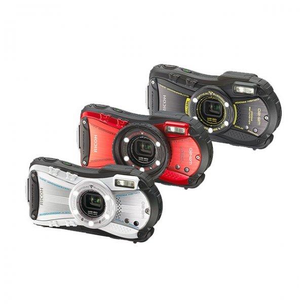 Ricoh WG-20 wasserdichte Digitalkamera (14 Megapixel, 5-fach opt. Zoom, 6,9 cm (2,7 Zoll) LCD-Display, 97MB interne Speicher, HDMI, USB 2.0) rot/silber oder schwarz für 140€ @Null.de