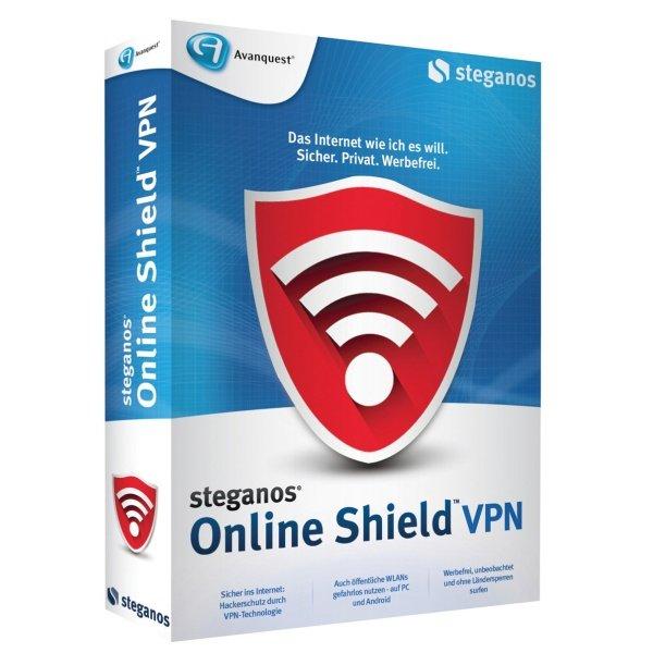 Steganos Online Shield VPN 365 kostenlos für 1 Jahr (2 GB Traffic Volumen pro Monat) für Win > [steganos.com]