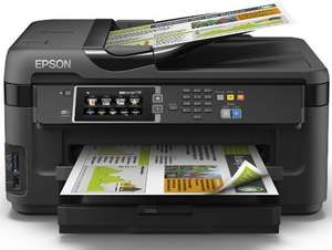 Epson WorkForce WF-7610DWF Tinten-Multifunktionsgerät (A3, Drucker, Kopierer, Scanner, Fax, Duplex, USB, LAN, WLAN) für 155,42 € @Amazon.it