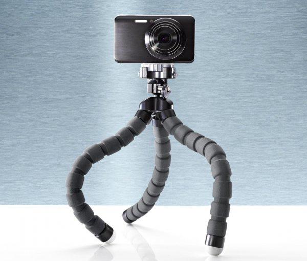 [7% Qipu] Flexibles Kamerastativ in Anthrazit-schwarz für 9,95€ mit Lieferung in Filiale @Tchibo
