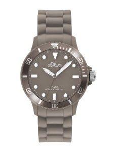 s.Oliver Unisex-Armbanduhr Medium Size Silikon grau SO-2306-PQ für 22,90 EUR inkl. VSK