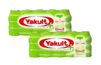 Zwei Packungen Yakult Plus - Gratis Testen