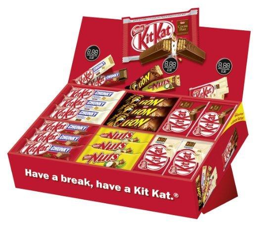 Nestlé Sortimentskarton mit 64 Riegeln, 1er Pack (1 x 2880 g) für 28€ @Amazon