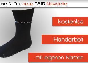 Kostenlos: Socken mit eigenem Namen eingestickt @0815store.de