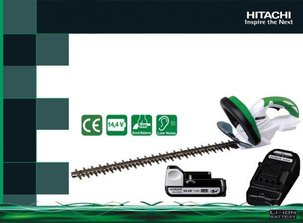 Hitachi CH 14 DSL Heckenschere mit 1.5Ah 14,4V Akku und Ladegerät