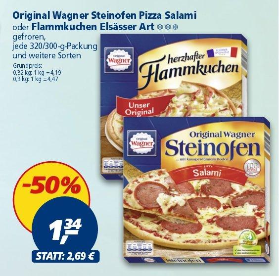 Real ab Montag den 13.04: Wagner Steinofenpizza oder Flammkuchen für je 1,34 Euro