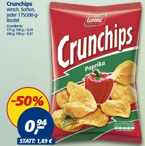 Lorenz Crunchips für nur 94 Cent bei [ REAL ]