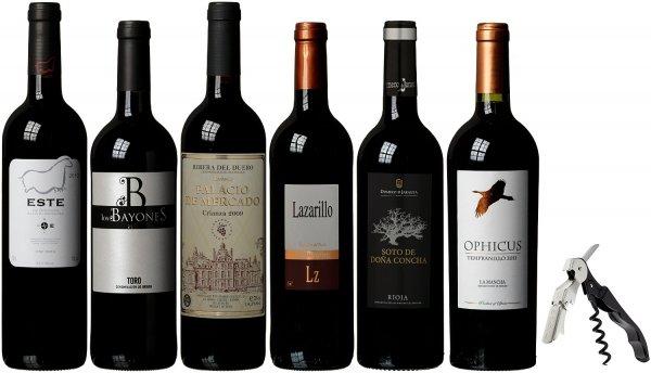 40% Rabatt auf Weinpaket mit spanischen Bestsellern + Pulltap Korkenzieher gratis