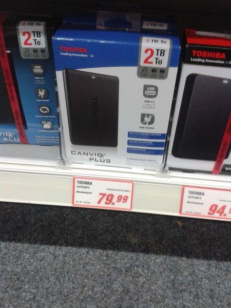 """[Lokal][Berlin] Toshiba Canvio Plus 2TB (2,5"""") externe Festplatte für 79,99 @Mediamarkt"""
