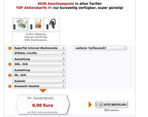 Vodafone SuperFlat Internet Wochenende Vertrag - GEWINN: 51,20 Euro!!!