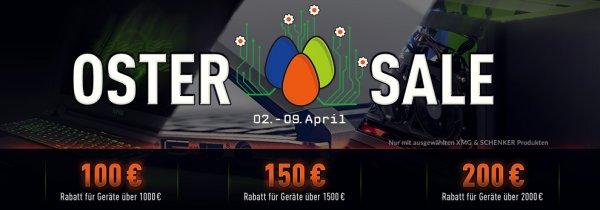 Bis zu 200 € Rabatt auf alle XMG/SCHENKER Notebooks / PCs auf mySN.de