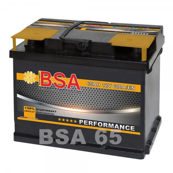 BSA Performance Autobatterie 65AH +30% Startleistung incl. Versand u. Pfand   49,90€ bei Ebay