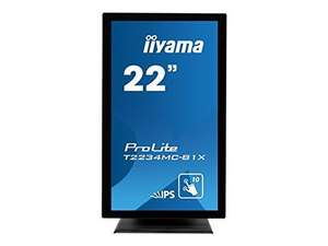 "Iiyama ProLite T2234MC-B1X - LED-Monitor (22"", Multi-Touch - 1920x1080, IPS, 250 cd/m2, 1000:1, 8 ms, DVI-D, USB)"