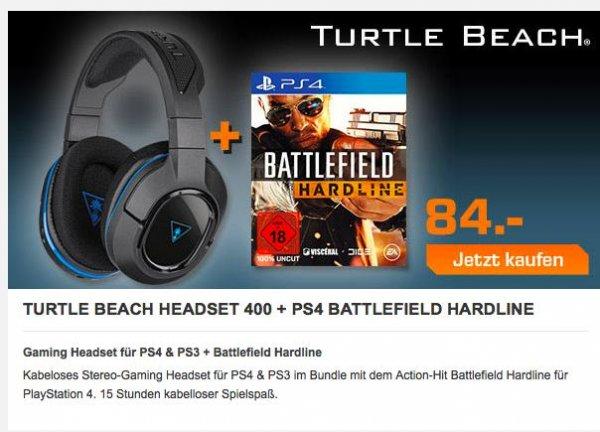 [Saturn Late Night] TURTLE BEACH Ear Force Stealth 400 + Battlefield Hardline PS4 für 84,-€