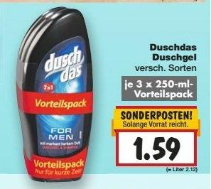 [Kaufland KW 16] Duschdas 3er Pack für 1,59€