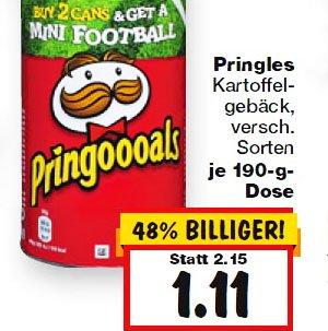 Pringles verschiedene Sorten für günstige 1,11€ ab 16.4. bei [ Kaufland ]