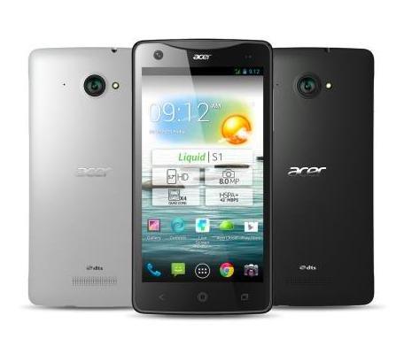 "Acer Liquid S1 Dual-Sim 5,7"" HD, 1,5GHz Quad-Core, 1GB RAM, 8 MP Kamera, GPS, Bluetooth 4.0, Android 4.4) für 155€ @Notebooksbilliger"