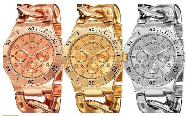 Akribos XXIV Damen-Uhr mit Kettenarmband für 44,99 € - 89% unter Listenpreis