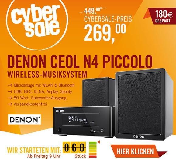 CYBER SALE --> Denon CEOL N4 Piccolo mit DLNA und Airplay