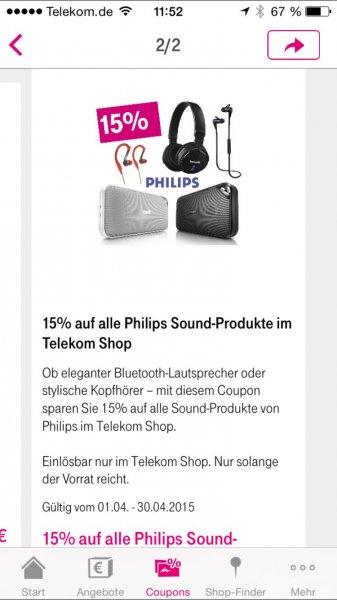 15% Rabatt auf Sound-Produkte von Philips