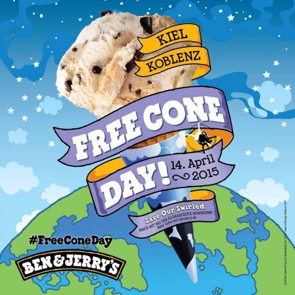 [lokal Kiel & Koblenz] Ben & Jerry's: Free Cone Day // Busladung voller Eis am 14.04.2015