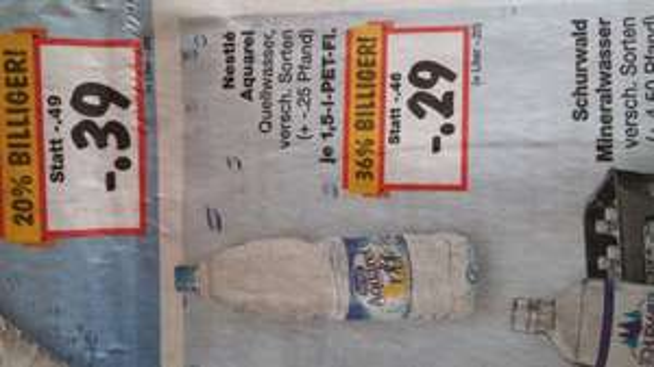 Nestle Aquarel für 29ct 1.5liter versch.Sorten @ kaufland evtl nur BW