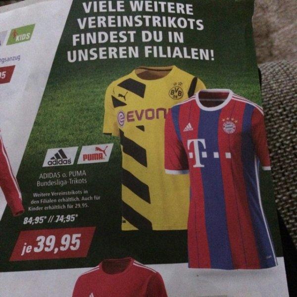 (Bundesweit) Intersport Voswinkel Bundesliga Trikots je 39,95€