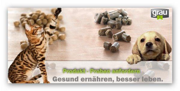 Gratisproben Tierfutter bei Grau