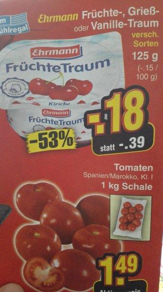 Ehrmann früchte,vanille oder grießtraum für 0,18€ am Samstag 18.04.15@ netto Markendiscount