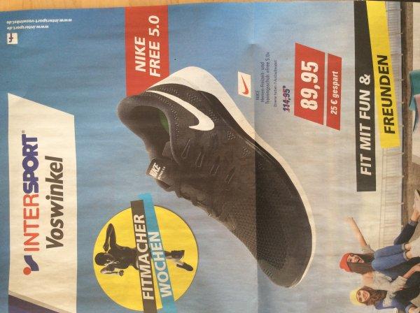 Nike Free 5.0 Herren - versch. Farben 89,25€ @ InterSport