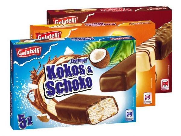 [Lidl ab 13.4.] Gelatelli Eisriegel 5er Pack für 1,49€ (4,26€/Liter)