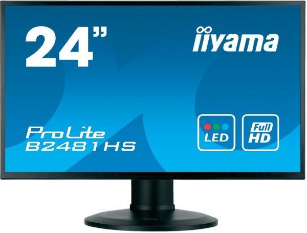 [Misco] Iiyama B2481HS-B1 Gaming Monitor (24'' FHD LED-Backlight Widescreen, 16:9, 250 cd/m², 2ms, HDMI, Pivot) für 146,50€ = 14% Ersparnis