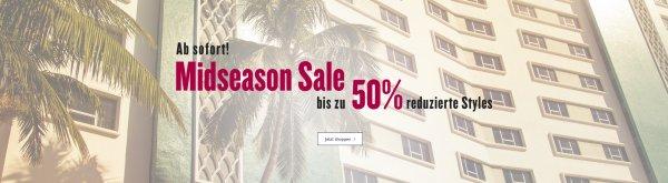 Midseason Sale bei Tom Tailor - bis zu 50%