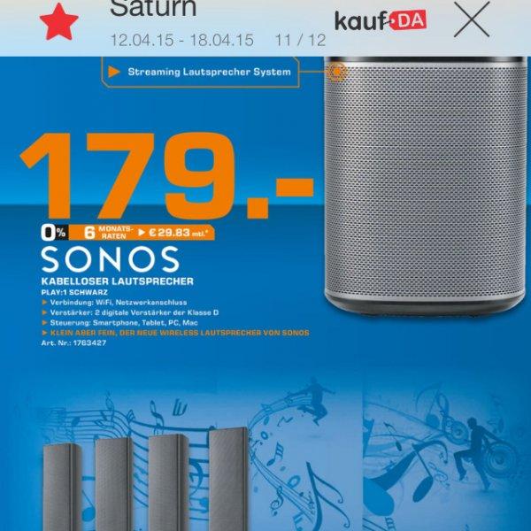[Saturn Markt in Lübeck Dänischburg] Sonos Play 1 im Angebot