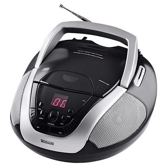[real,- online & offline bundesweit] Watson Stereo-CD-Radio RP5879 um 50% reduziert zum real,- Jubiläum > kostengünstiges Hörspielabspielgerät für's Kinderzimmer (schmerzt nicht so wenn es mal runterfällt)